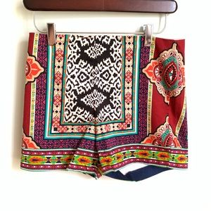Flying Tomato colorful print shorts
